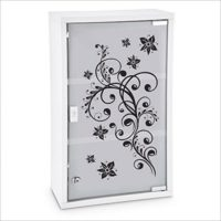 armoire-a-pharmacie-motif-floral-a-cles