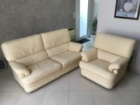 CANAPE 3 PLACE + FAUTEUIL ASSORTI