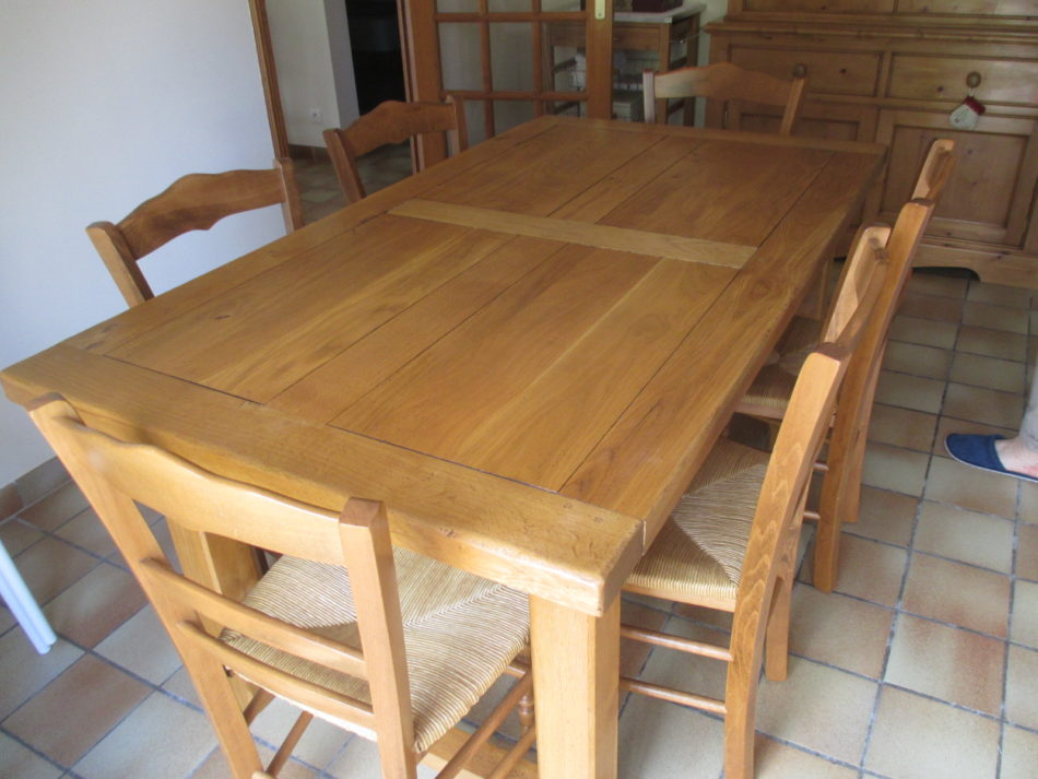 Table Salle A Manger Chene Clair Massif 6 Chaises Occasion
